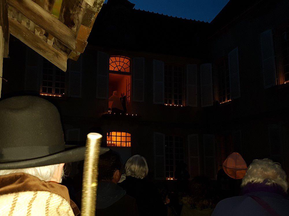 La nuit au musée du château du Plaix avec les Thiaulins de Lignières