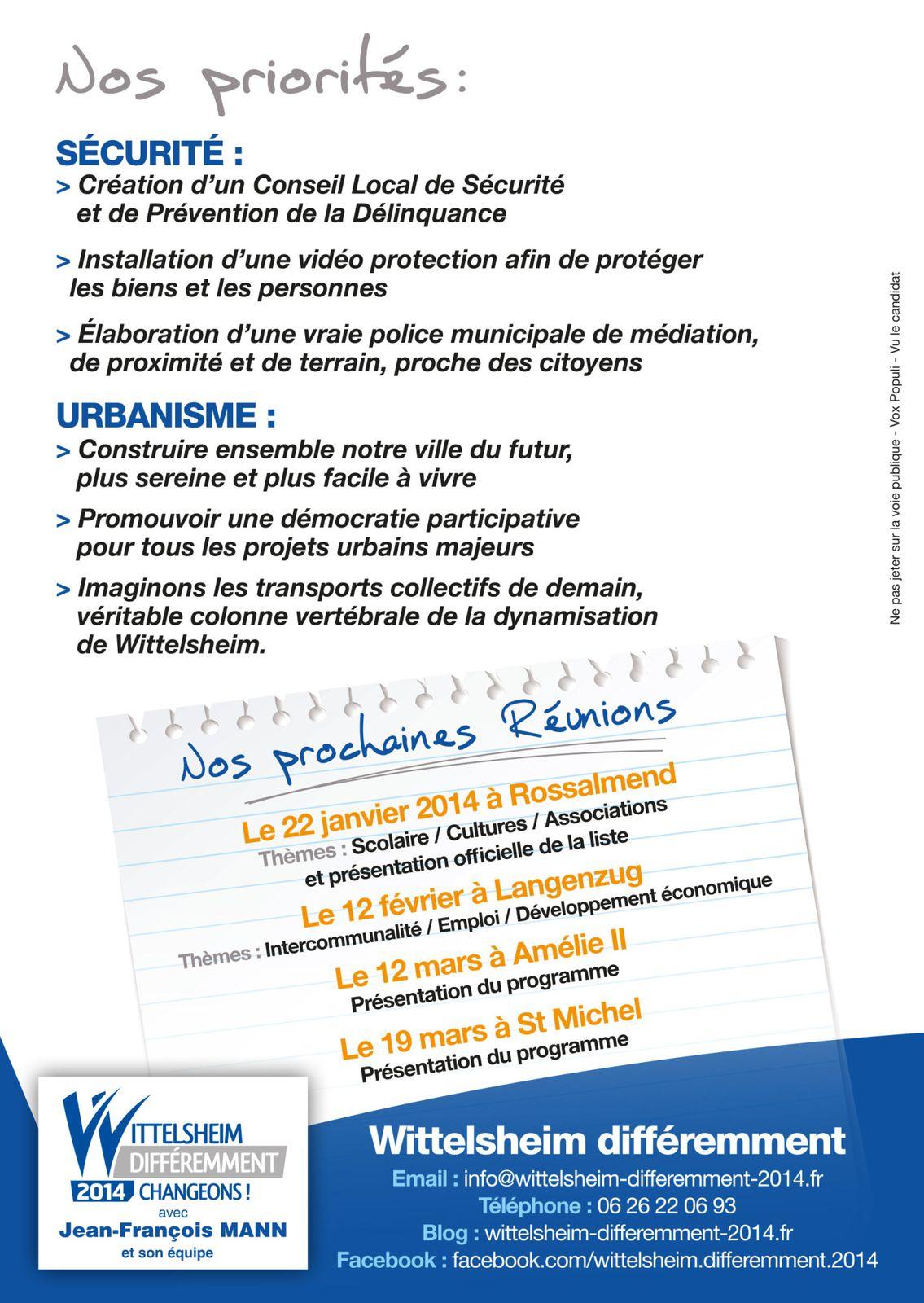 Réunion publique salle st Michel le 11 décembre 2013 à 20h00