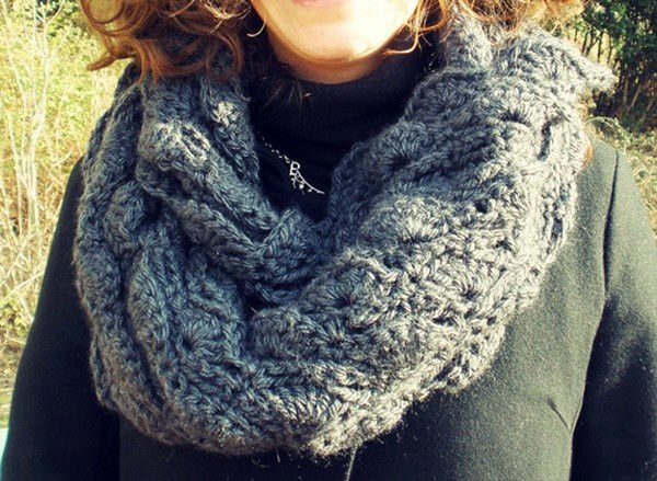 Snoods aux points coquilles , Tuto !