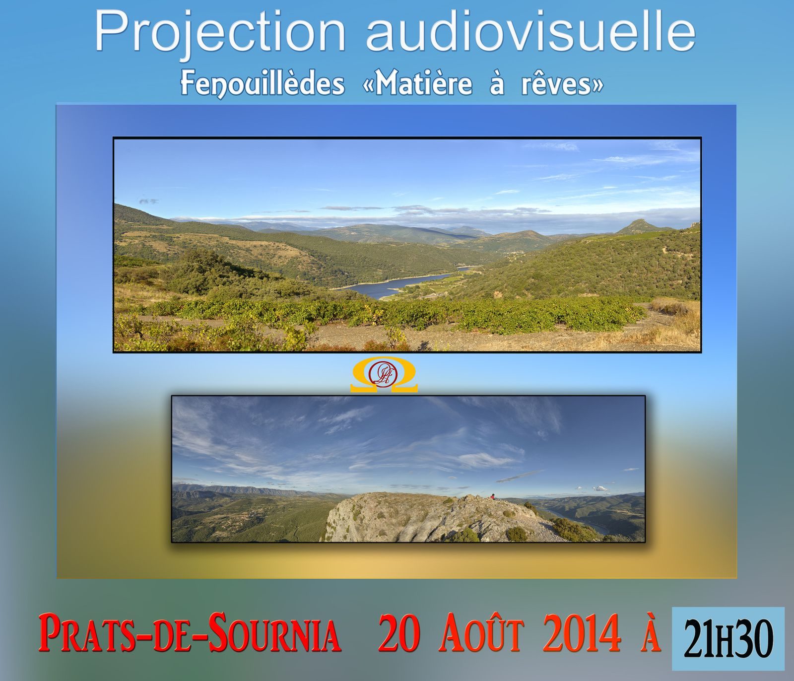projection audiovisuele à Prats-de-Sournia.
