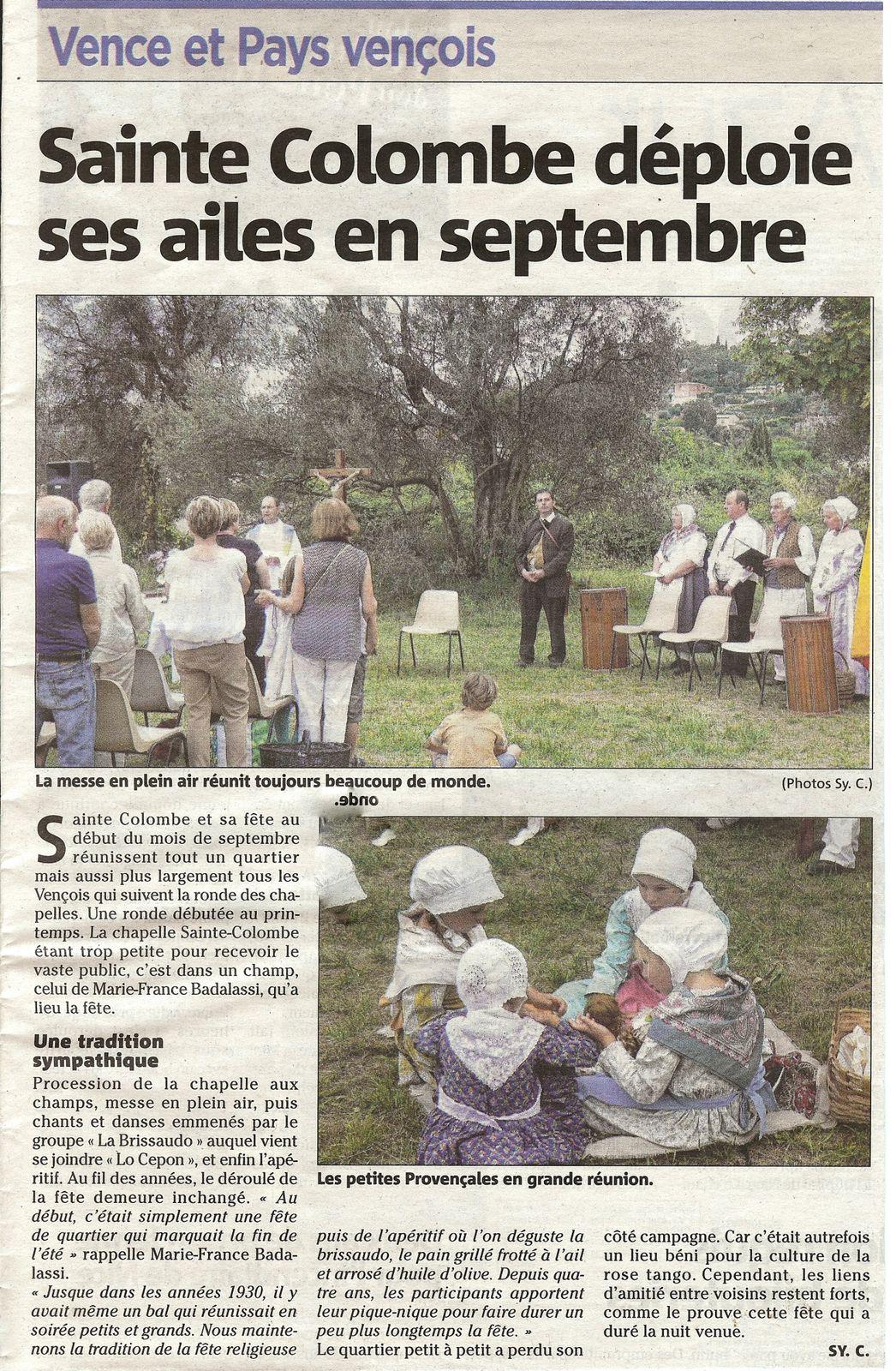La fête de Ste Colombe connaît toujours autant de succès...