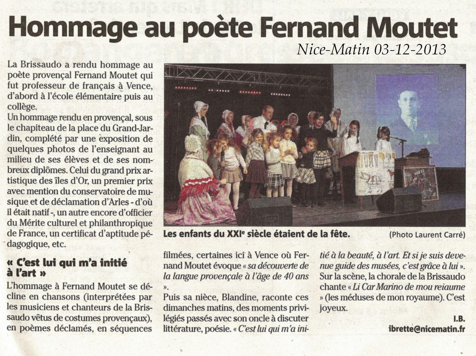 Les médias relatent l'hommage à Fernand Moutet