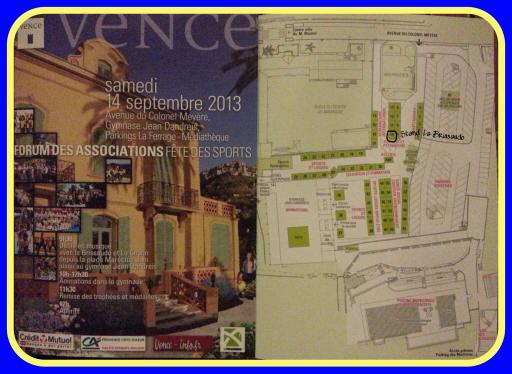 Retrouvez La Brissaudo samedi 14 septembre prochain au Forum des associations de Vence