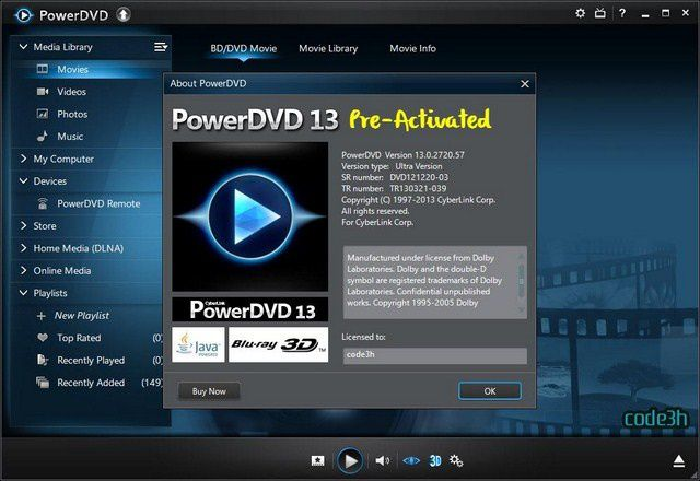 CyberLink PowerDVD Ultra v13 + Pre Activated
