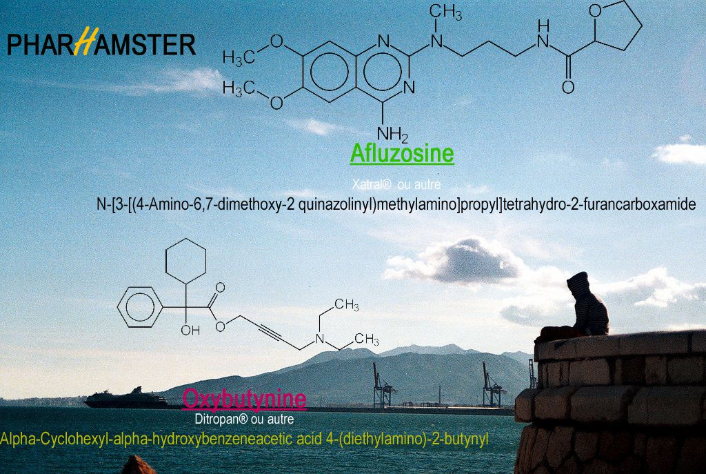 CAS D'OFFICINE ASSCIATION ALFUZOSINE (XATRAL®) &amp&#x3B; OXYBUTYNINE (DITROPAN®)