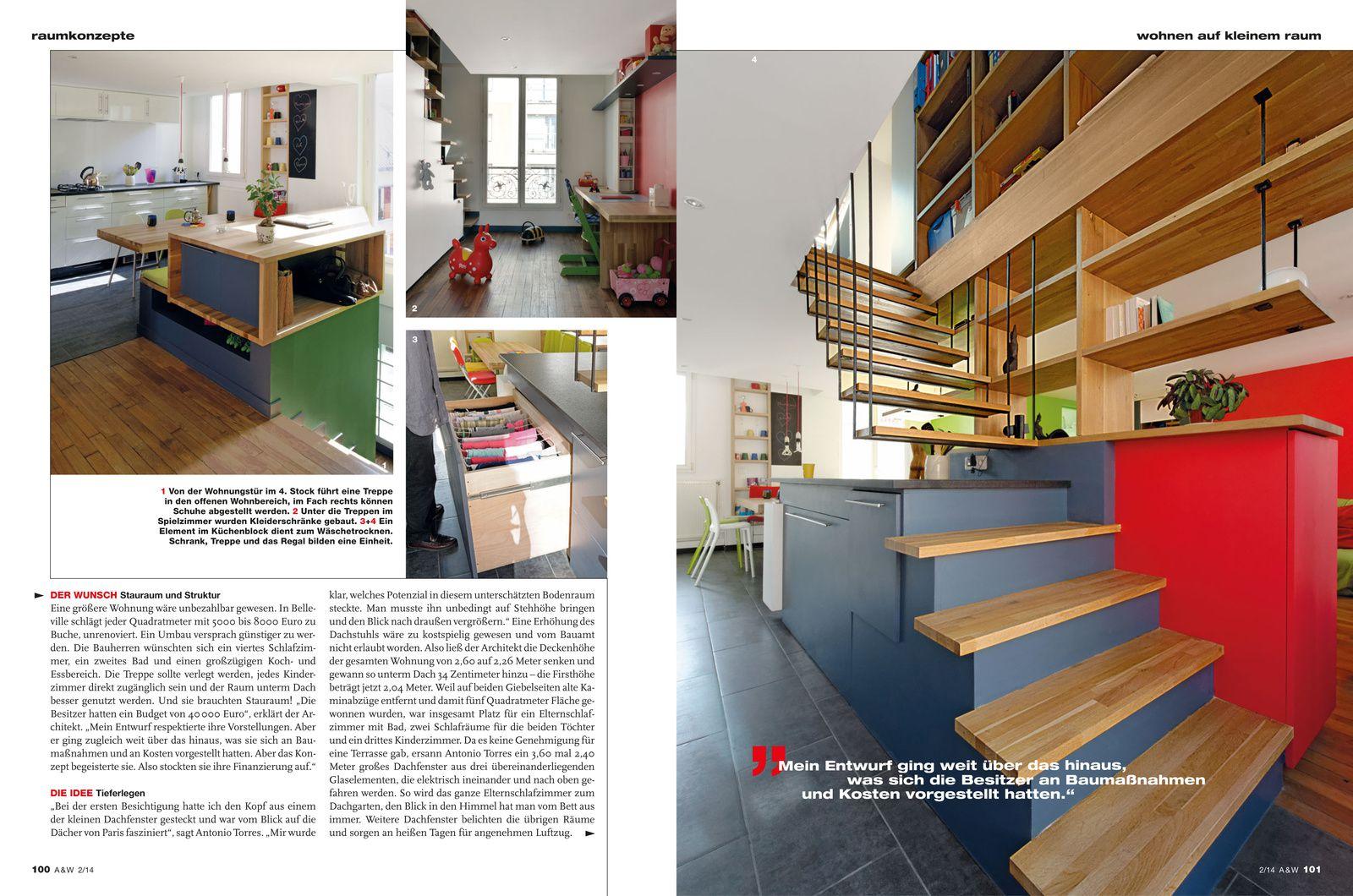 Article publie dans la revue ARCHITEKTUR&WOHNEN du 11 mars 2014