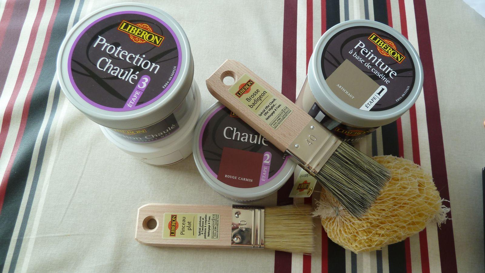 L 39 effet chaul la maison de c line et olivier - Peinture a essuyer effet chaule ...