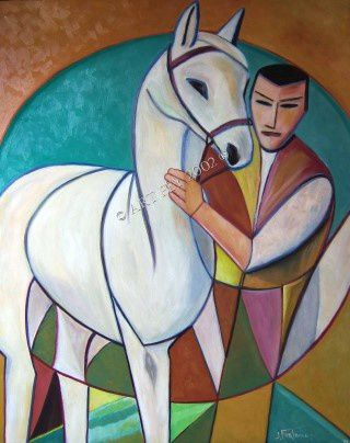 Le cavalier et son cheval / The rider and its horse