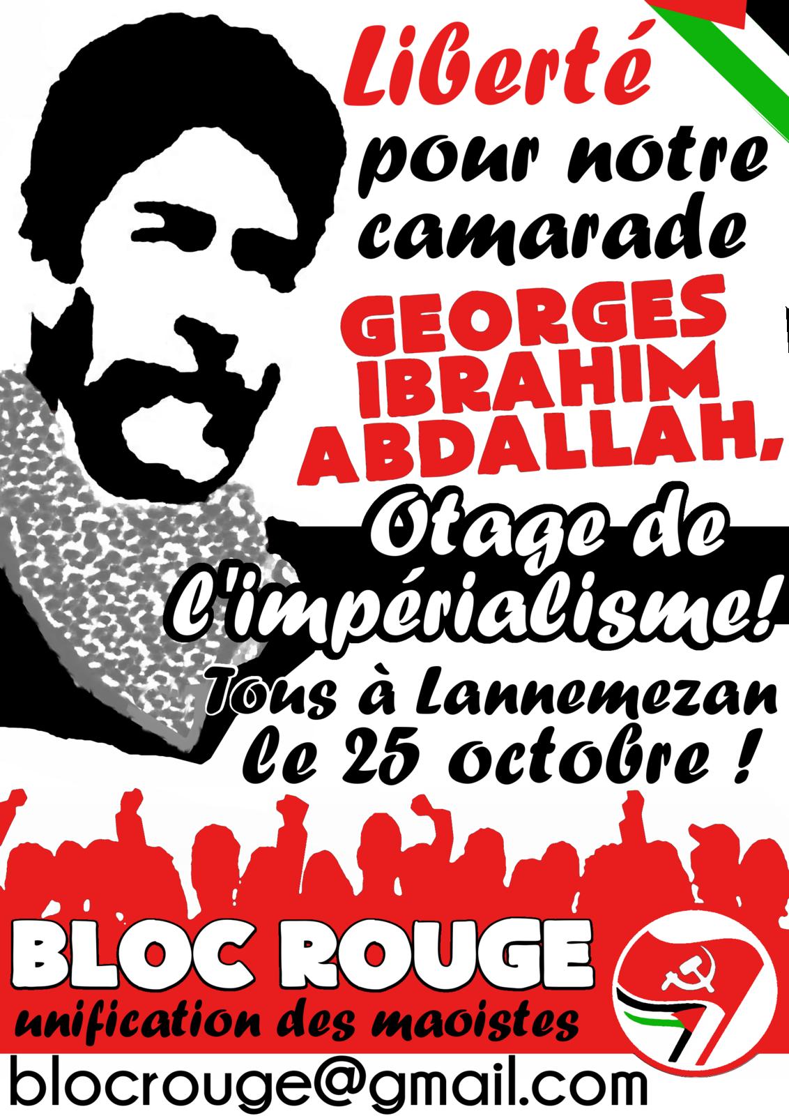 25 octobre 2014 : Georges Abdallah entame sa 31e année de détention. APPEL.