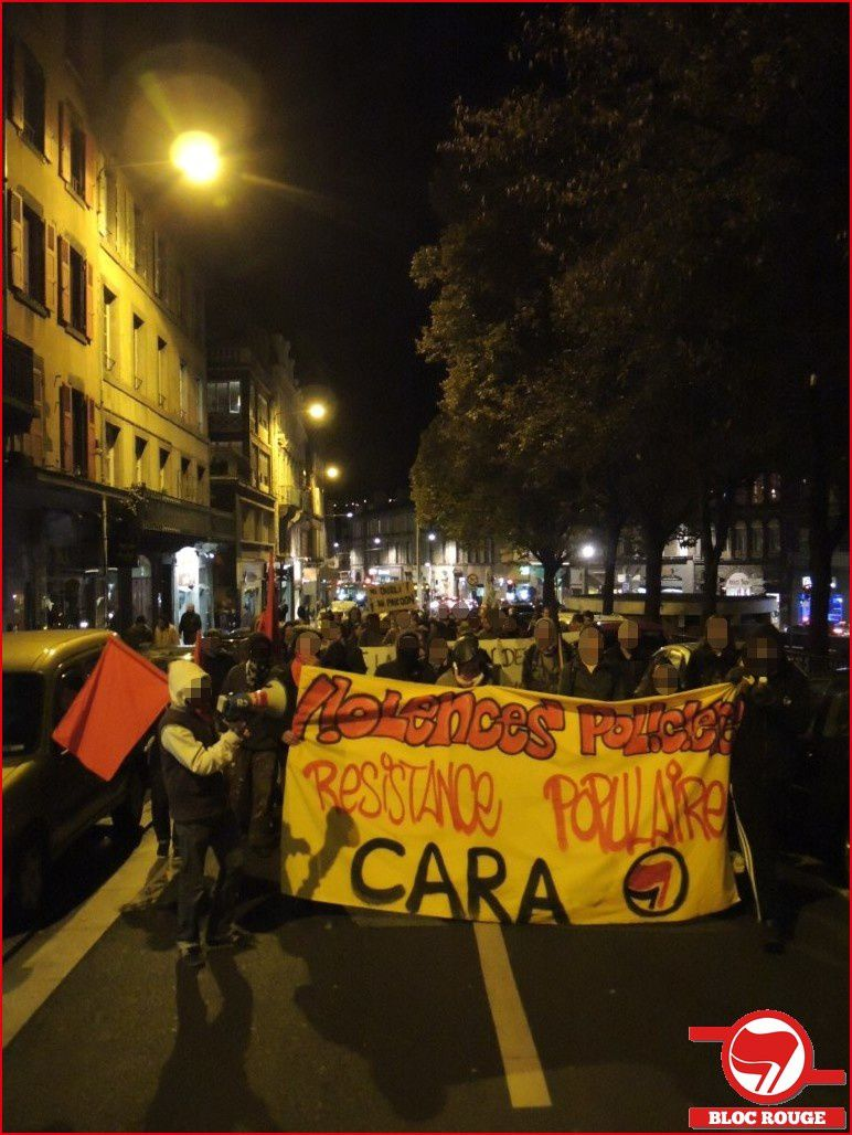 Clermont-Fd : photos de la manif contre les violences policières et en hommage à Rémi et à toutes les victimes de crimes policiers