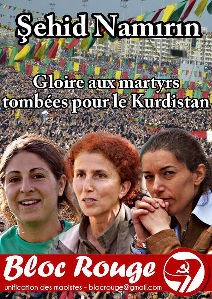 Du Kurdistan à Paris l'impérialisme assassine !