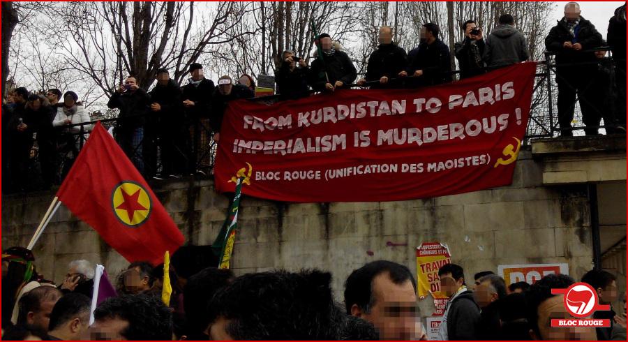 Photos de la manifestation pour Sakine, Fidan et Leyla