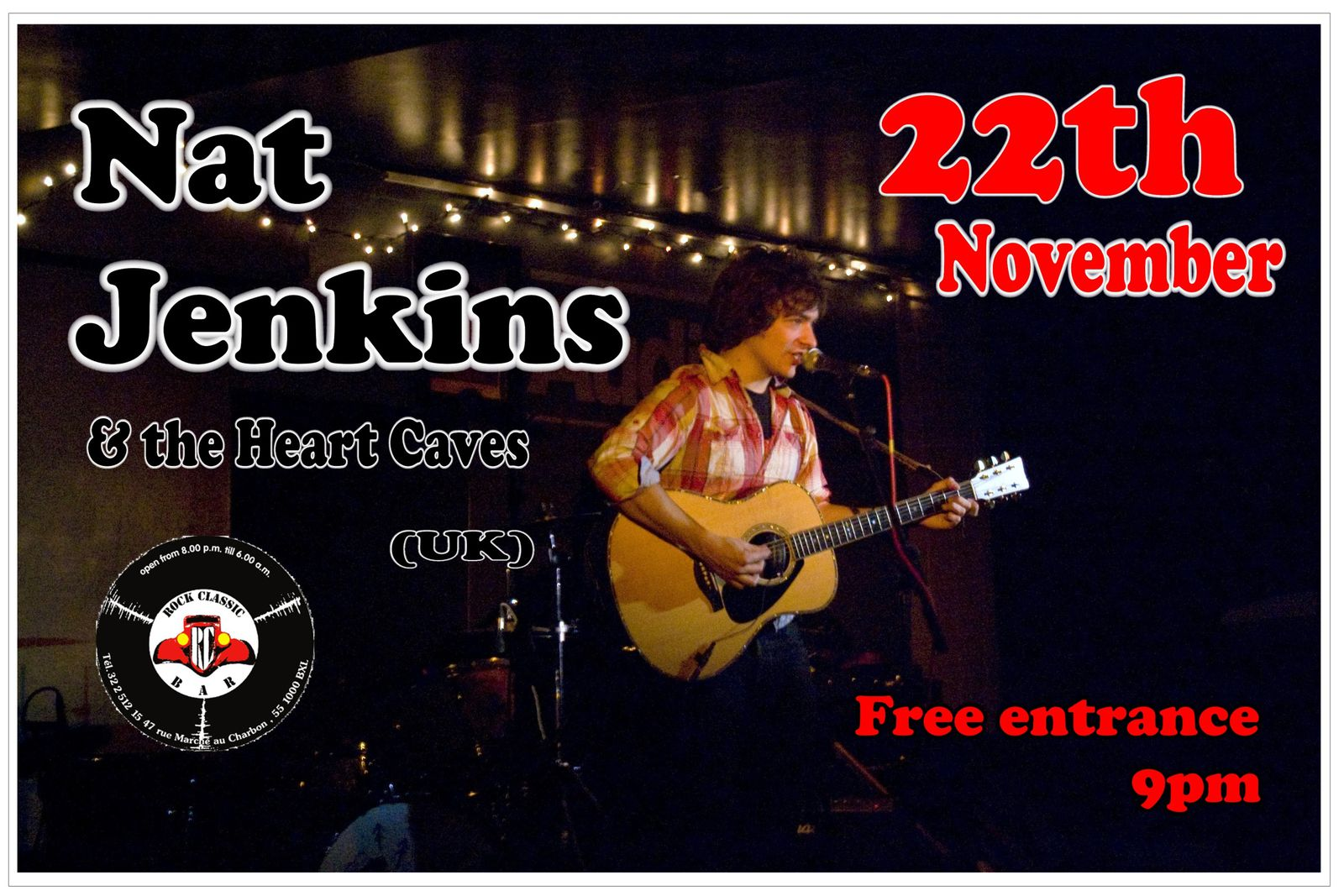 Nath Jenkins & the heart caves (UK) @ Rock Classic - 22/11/2013 - 21h00 - Entrée gratuite !