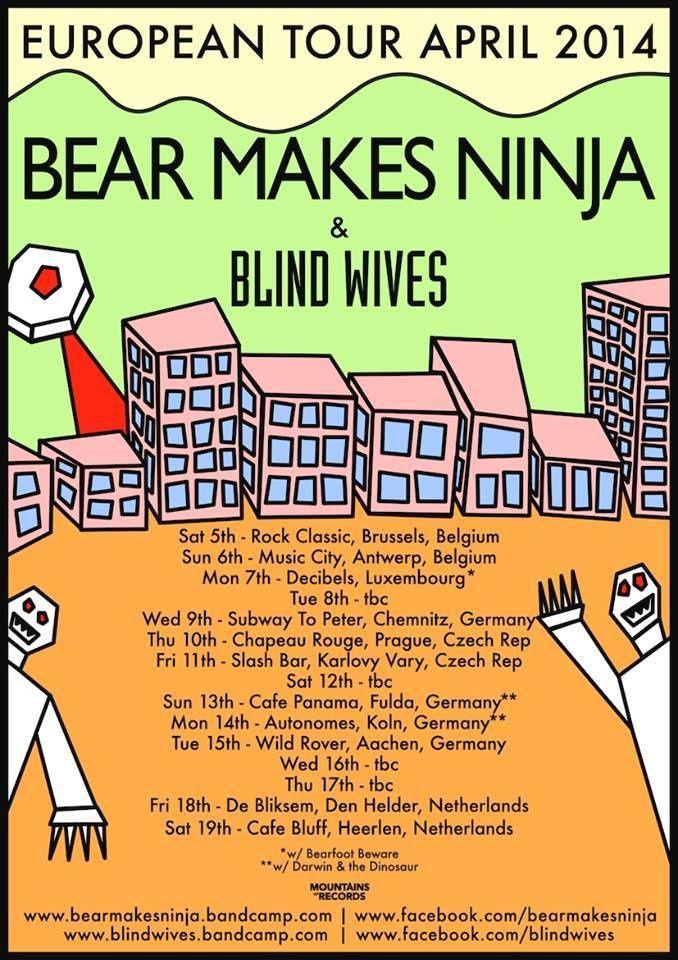 Bear Makes Nindja (UK) + Blind Wives (UK) @ Rock Classic - 05/04/2014 - 21h00 - Entrée gratuite !