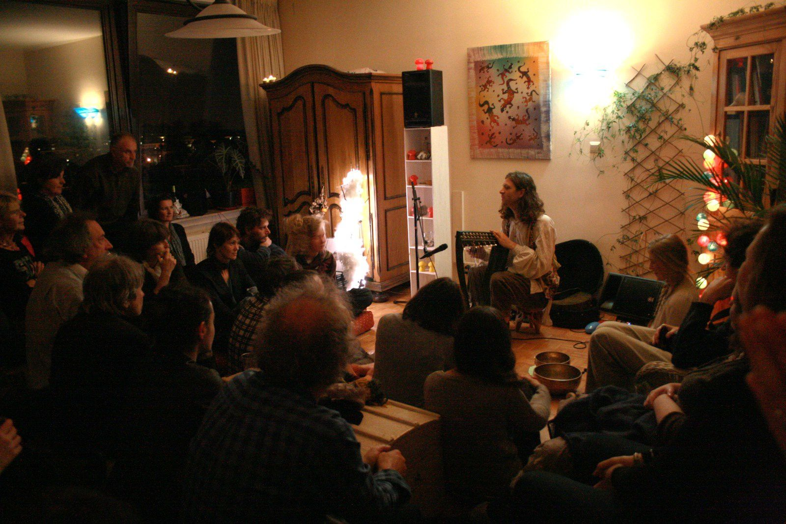 B'ee (US) (In Gowan Ring/Birch Book) @ Home concert (Uccle) - 08/11/2014