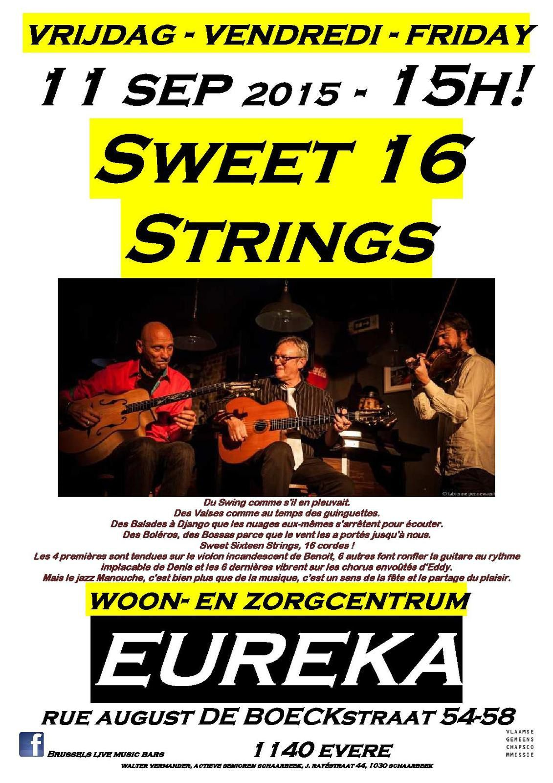 Sweet 16 Strings @ Eureka Woon- en Zorgcentrum - 11/09/2015