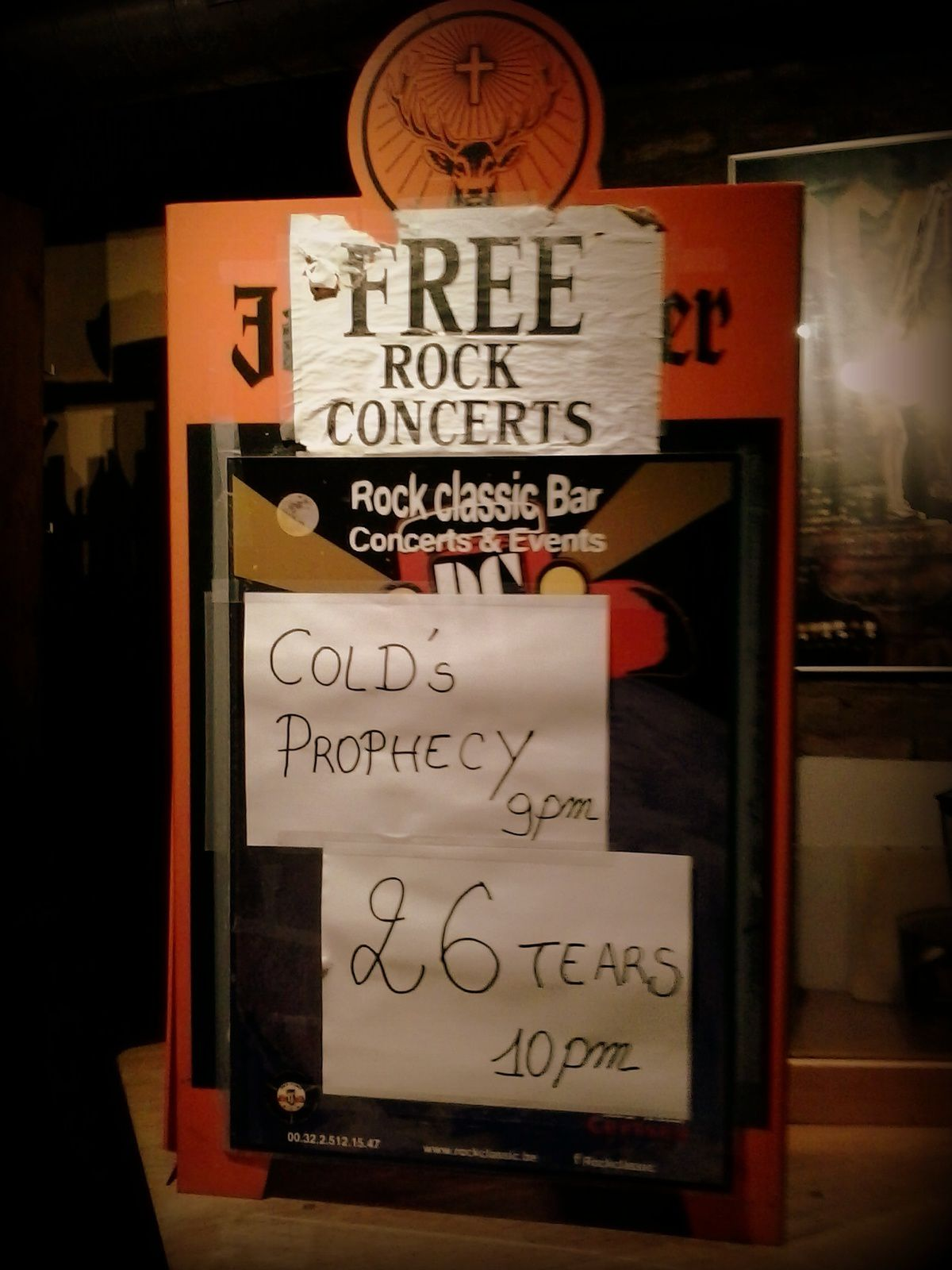 Cold's prophecy + Twenty Six Tears @ Rock Classic - 13/11/2015