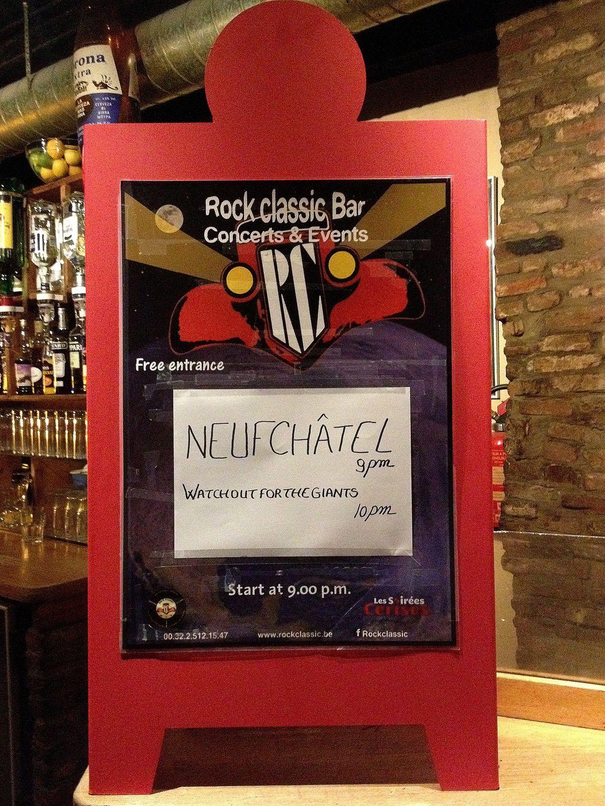 Neufchâtel + Watchoutforthegiants @ Rock Classic - 03/03/2016