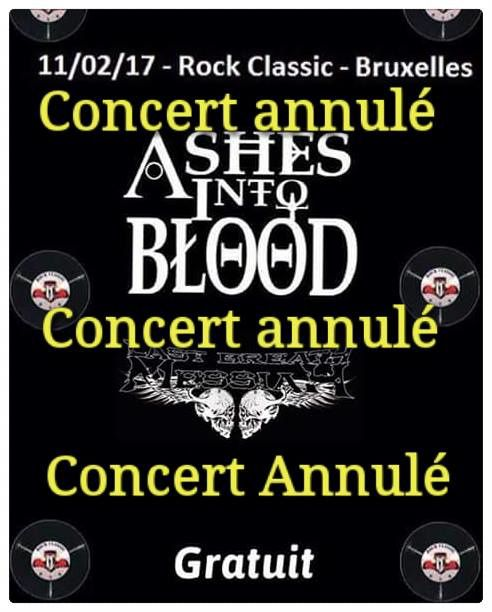▶ Last breath Messiah + Ashes into blood ▽ Rock Classic-11/02/2017