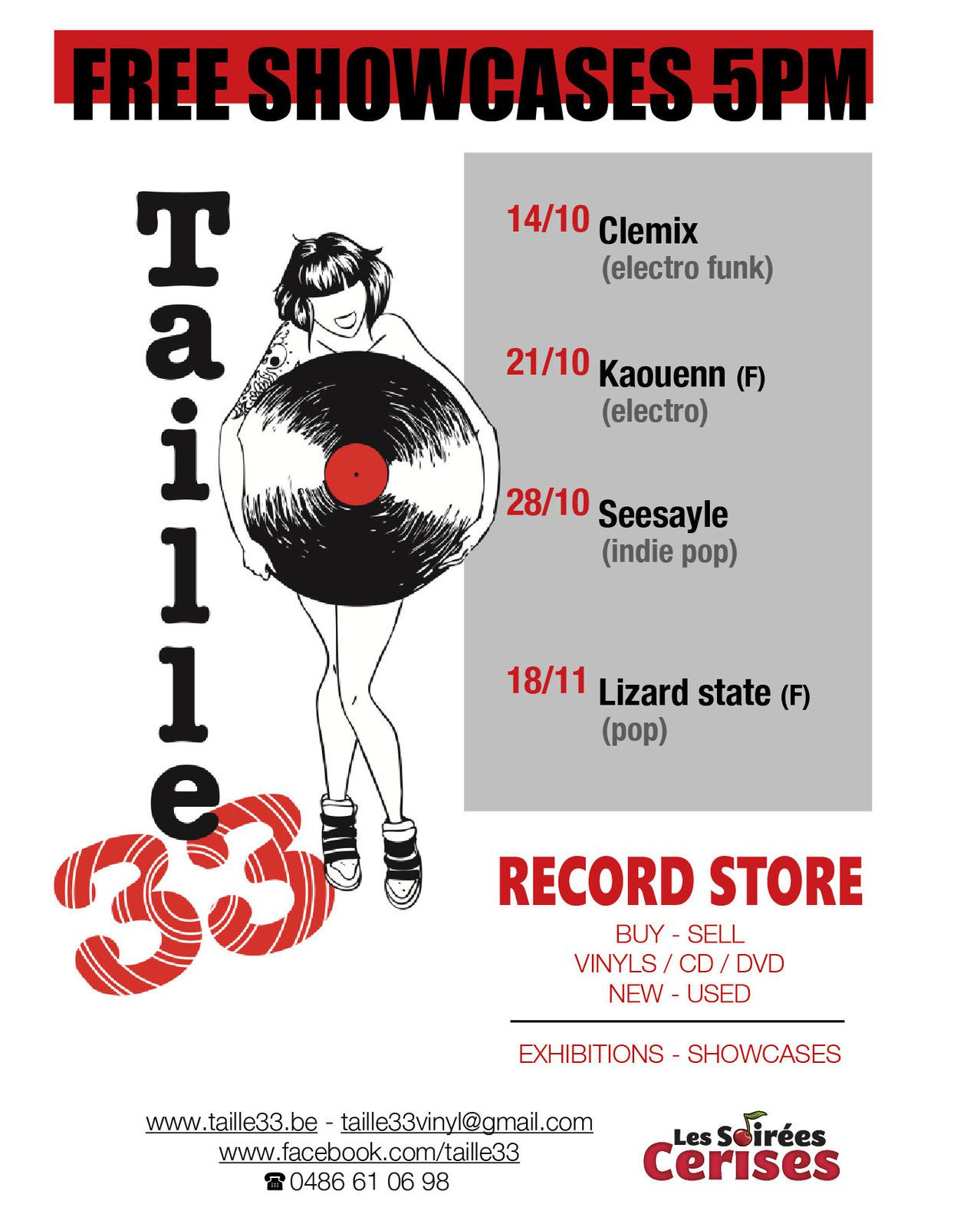 ▶ Prochains showcases au Taille33 record store