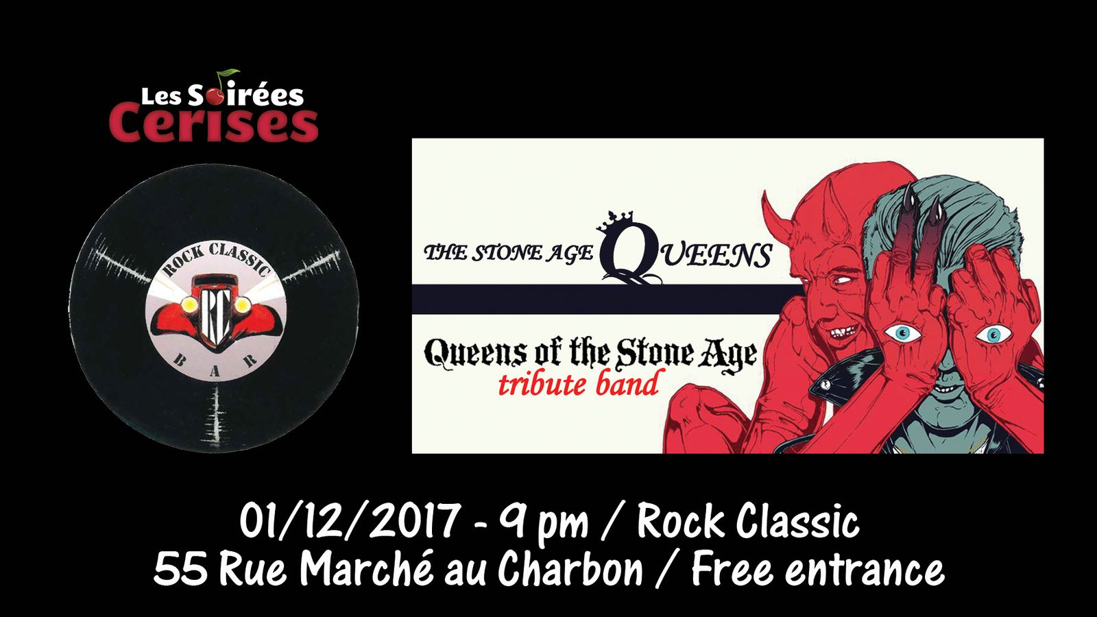 ▶ The Stone Age Queens (Queens of the Stone Age tribute band) @ Rock Classic - 01/12/2017 - 21h00 - Entrée gratuite !