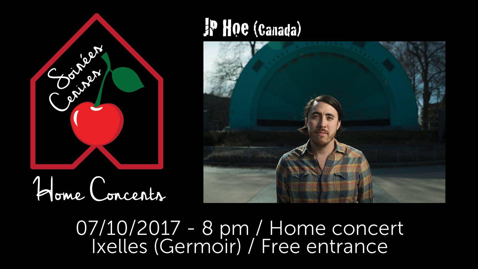 ▶ Concert en appartement avec JP Hoe (Canada) @ Ixelles (Germoir) le samedi 7 octobre à 20h00