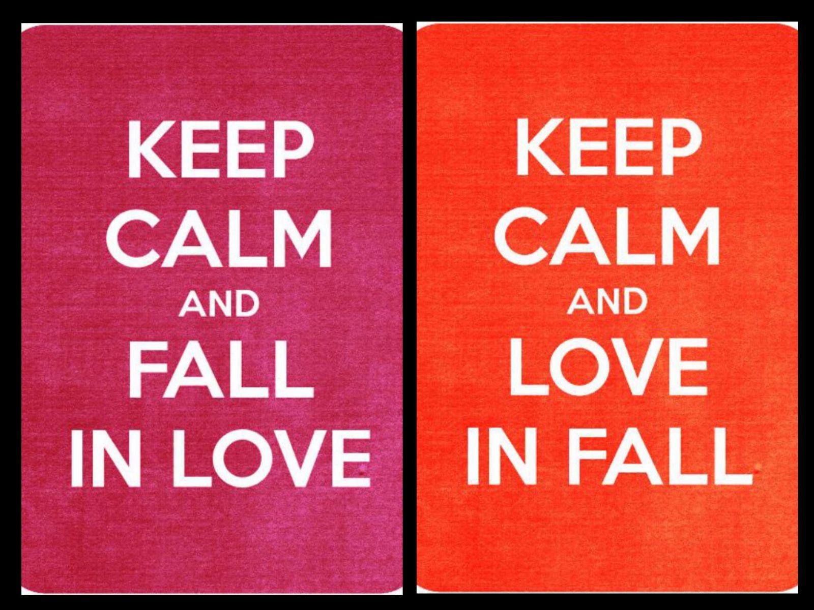 Vu chez les autres #46: Keep calm and love in fall