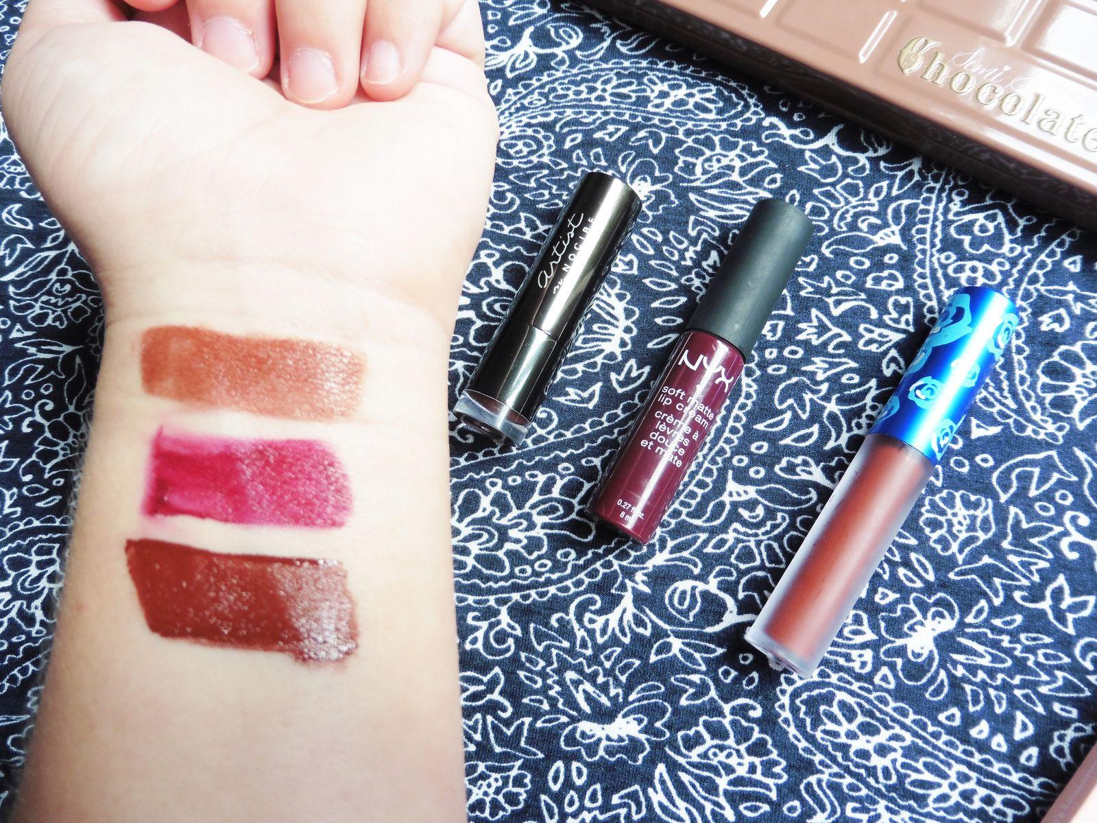 Mes 3 rouges à lèvres préférés pour l'automne