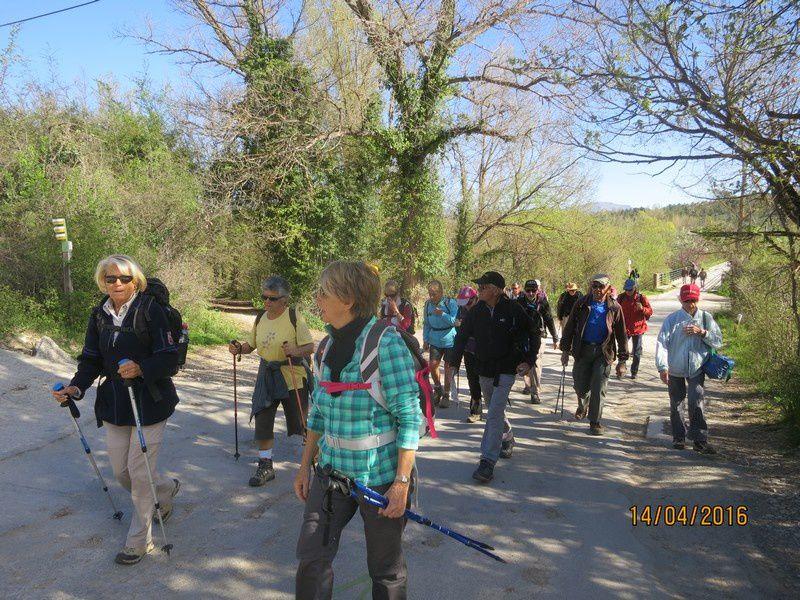 Fondurane - Vallon de Sarraire - circuit des petites jambes - jeudi 14 avril 2016