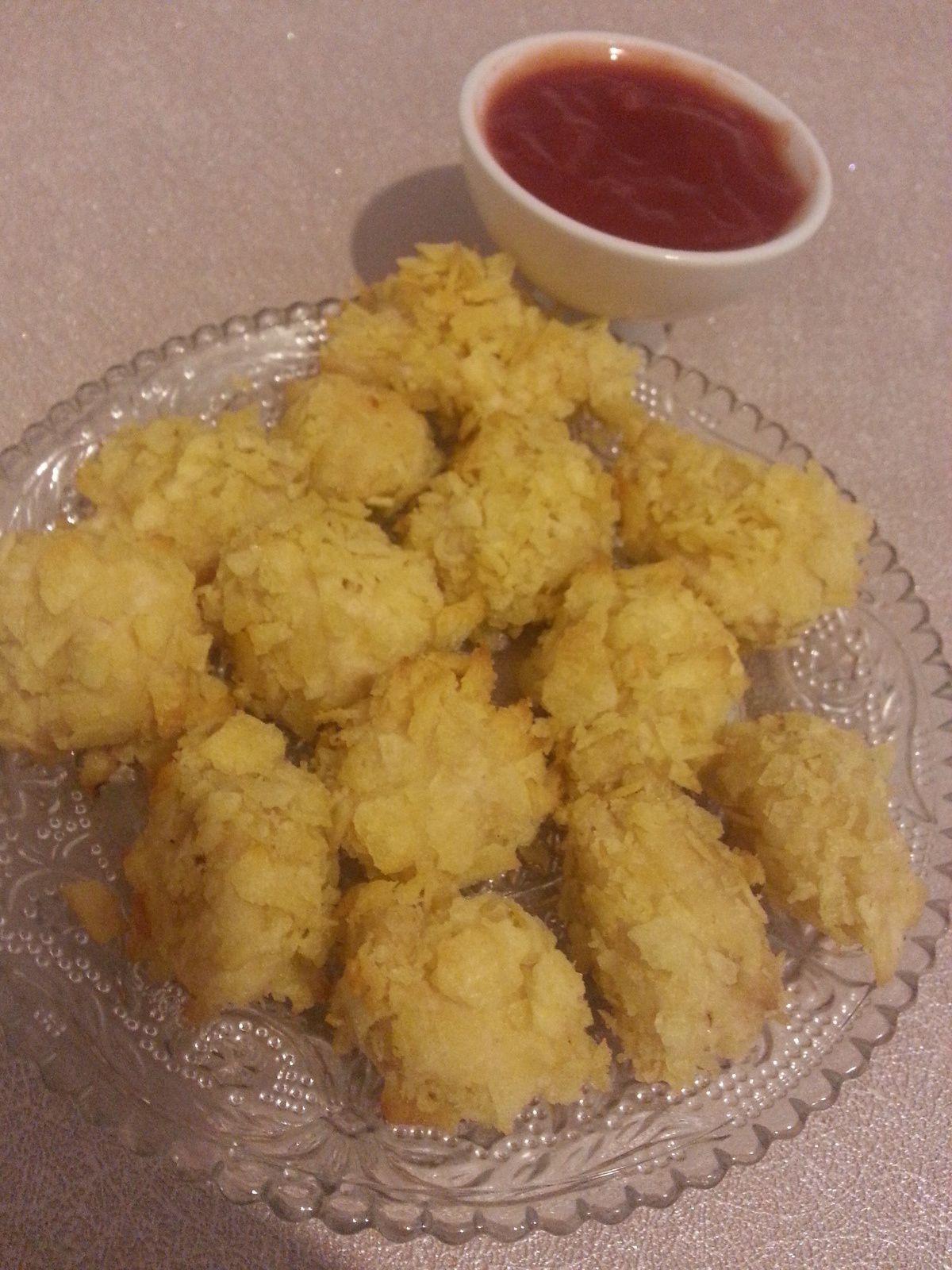Nuggets de poulet enrobé de chips