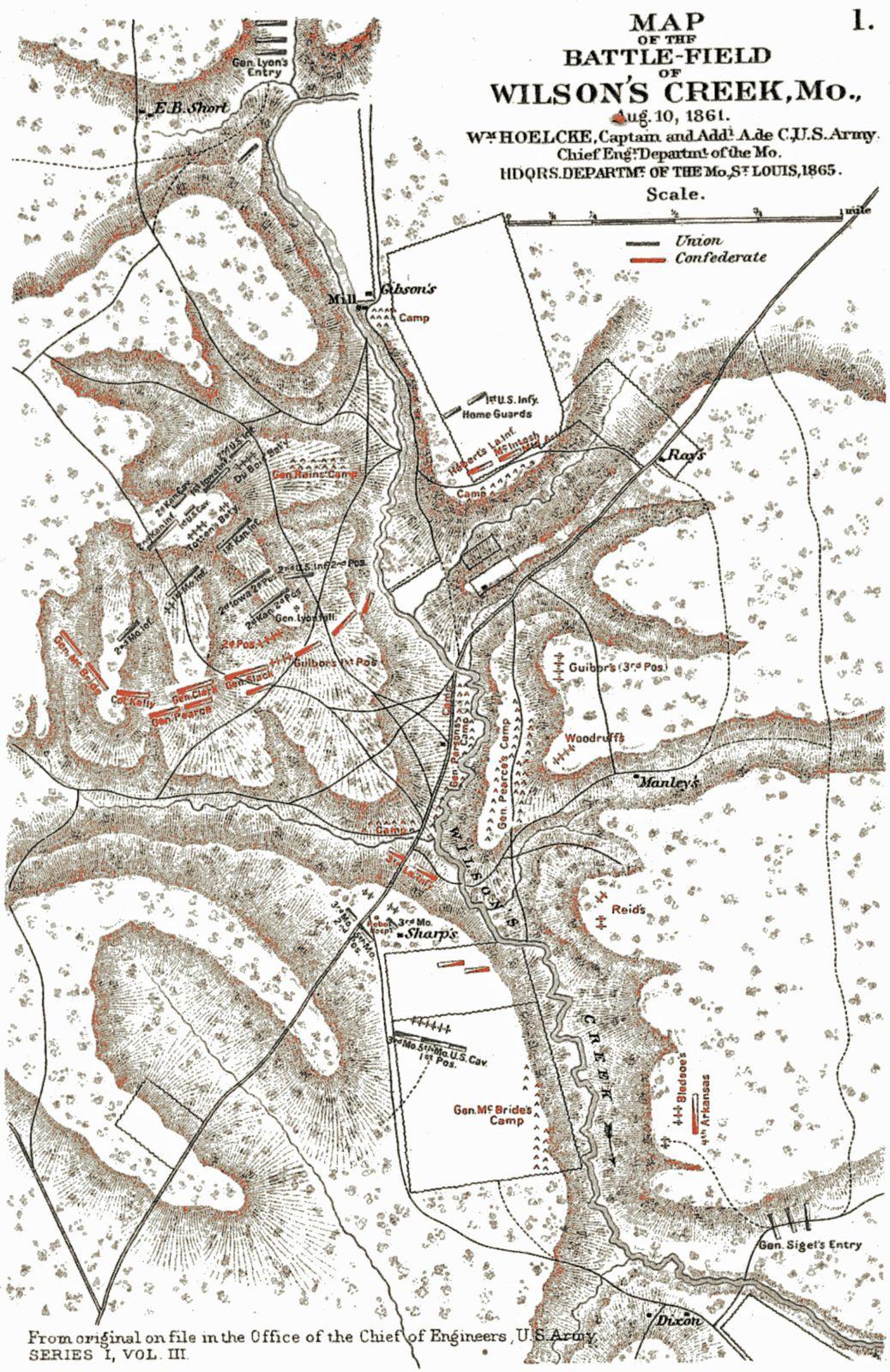 La bataille de Wilson's Creek 10 août 1861