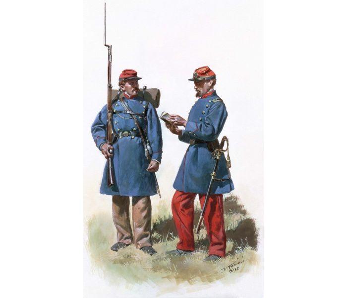 Guerre De Sécession Photos les français dans la guerre de sécession - les uniformes de la