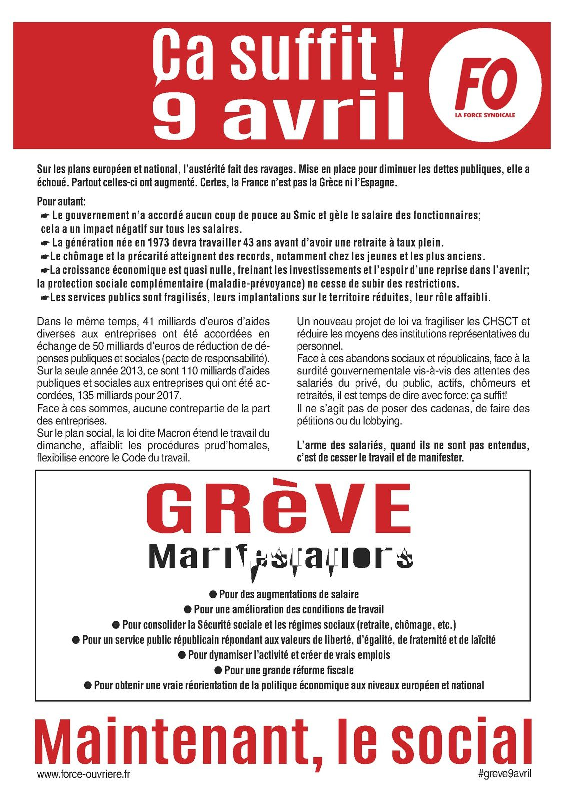 Tract - Ça suffit ! 9 avril 2015