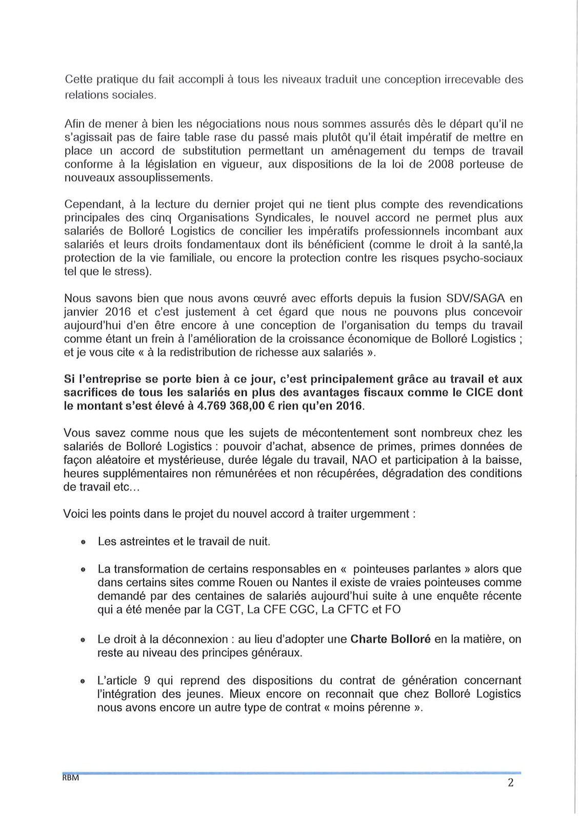 Négociation OTT, lettre ouverte de FORCE OUVRIERE