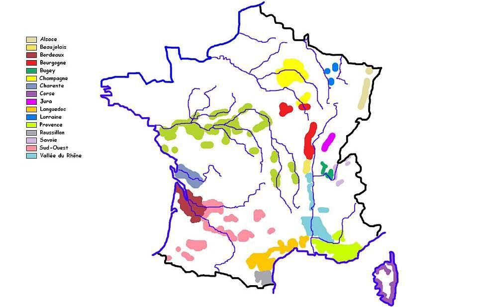 Assez Carte des régions viticoles et des domaines invités - Salon des  FZ01