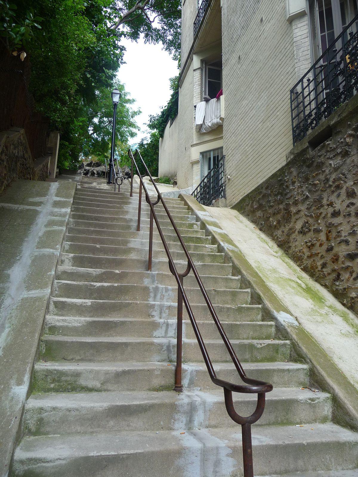 n 'oublions pas les escaliers  de Montmartre