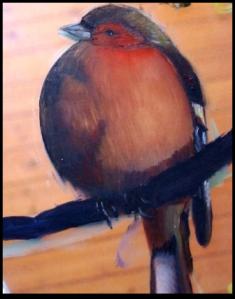 j'ai laissé volontairement les traces sur le verre, pour montrer que j'ai bien peint sur le verre.