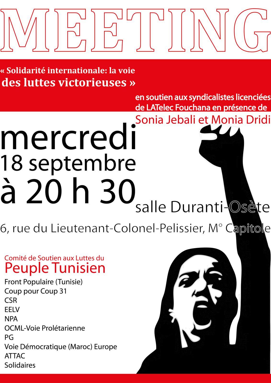 Solidarité internationale: la voie des luttes victorieuses