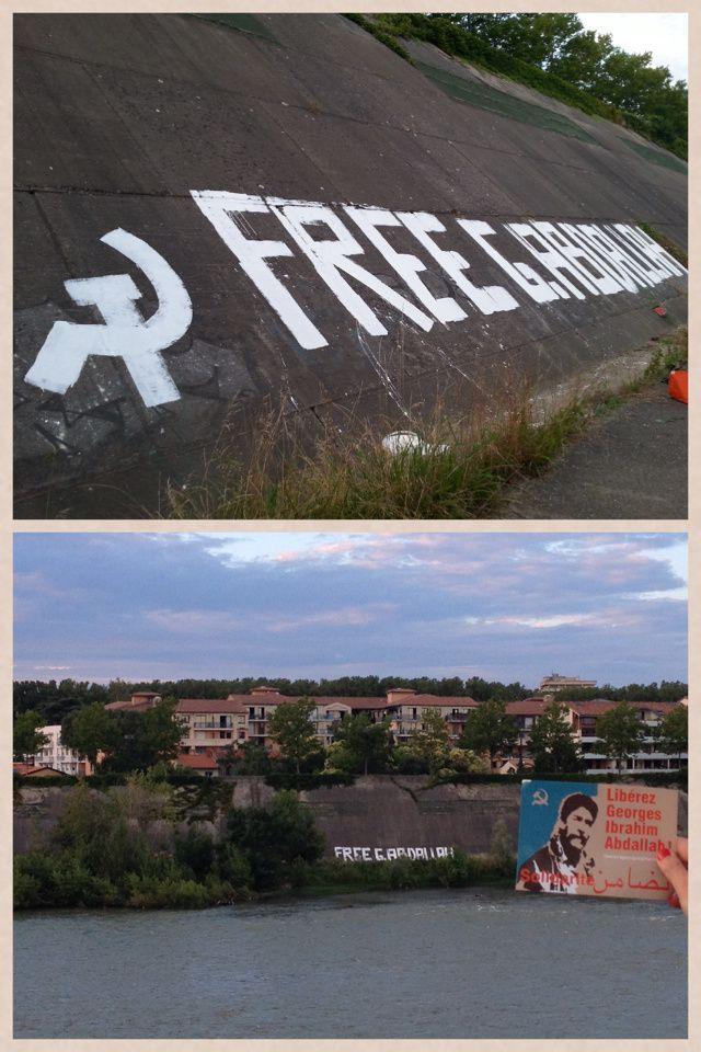 Vu sur les bords de la Garonne à Toulouse : Free G. Abdallah !