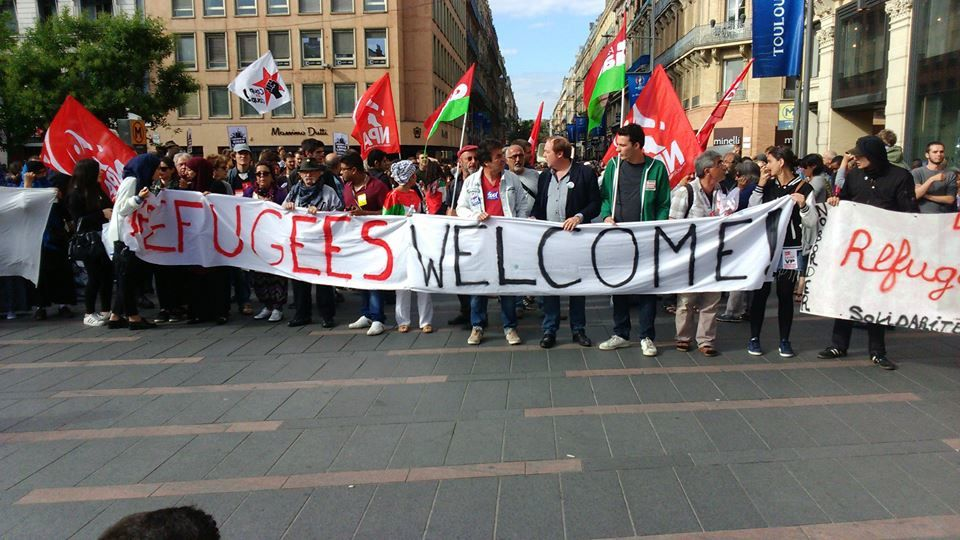 Toulouse crie : refugees welcome !