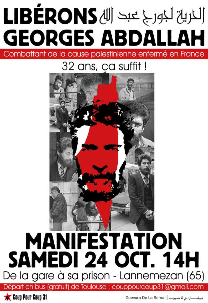 Demonstration in Lannemezan (France) on 24 October 2015 for the liberation of Georges Abdallah !