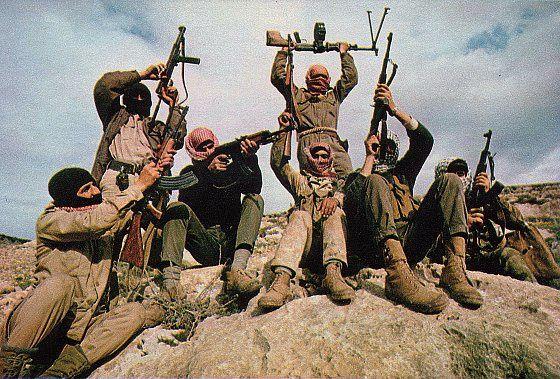 Combattants du FPLP en Jordanie en 1969.