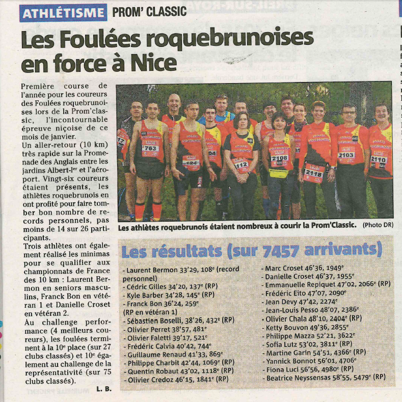 Article Nice-Matin Prom Classic