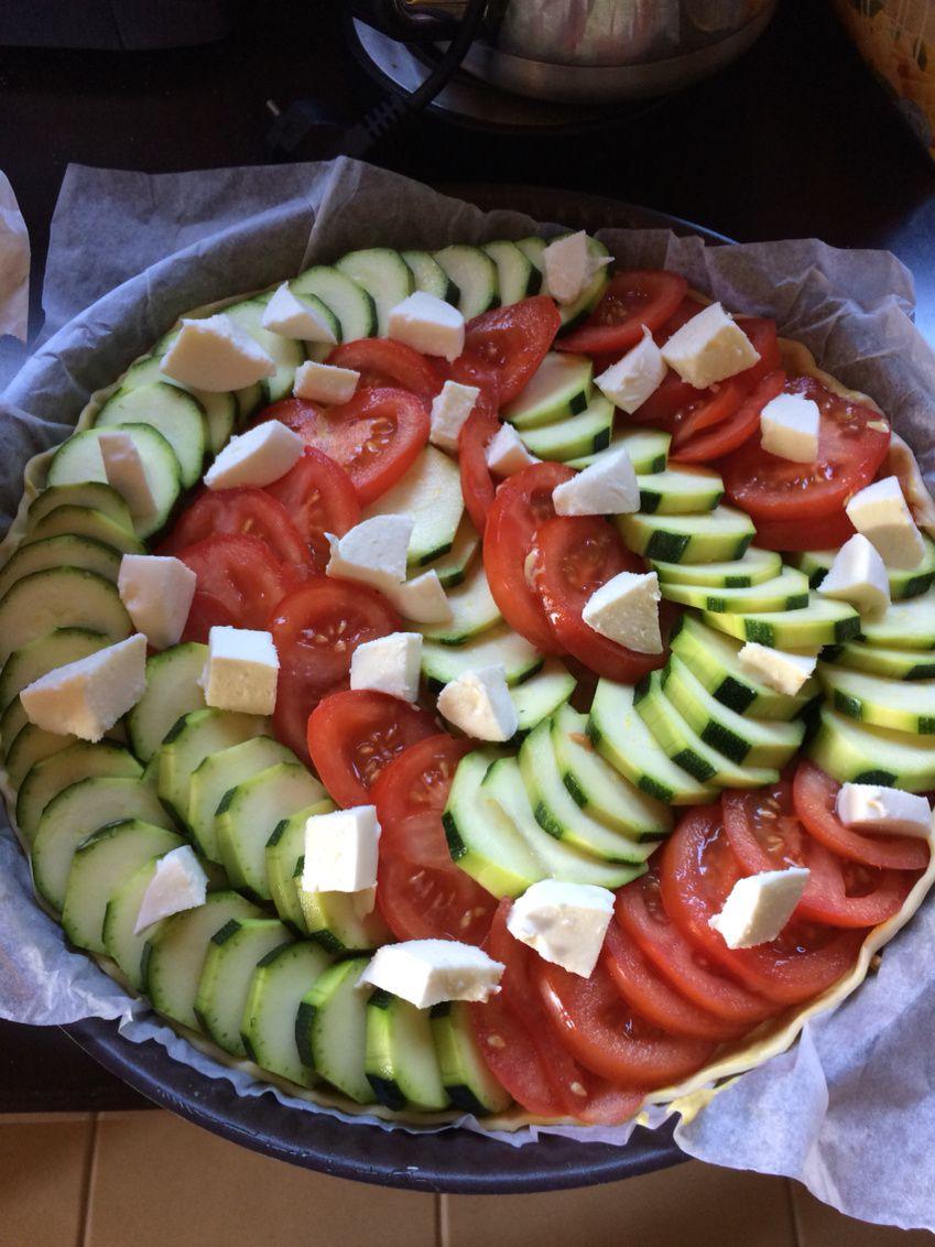 Tarte à la courgette / tomate !