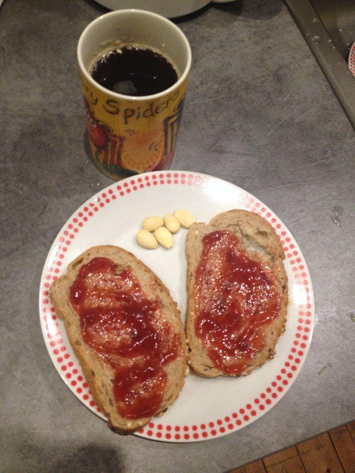 Petit déj de ce matin + snack �