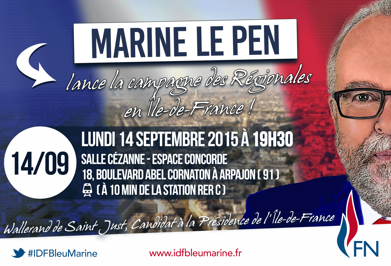 MEETING DE MARINE LE PEN A ARPAJON !