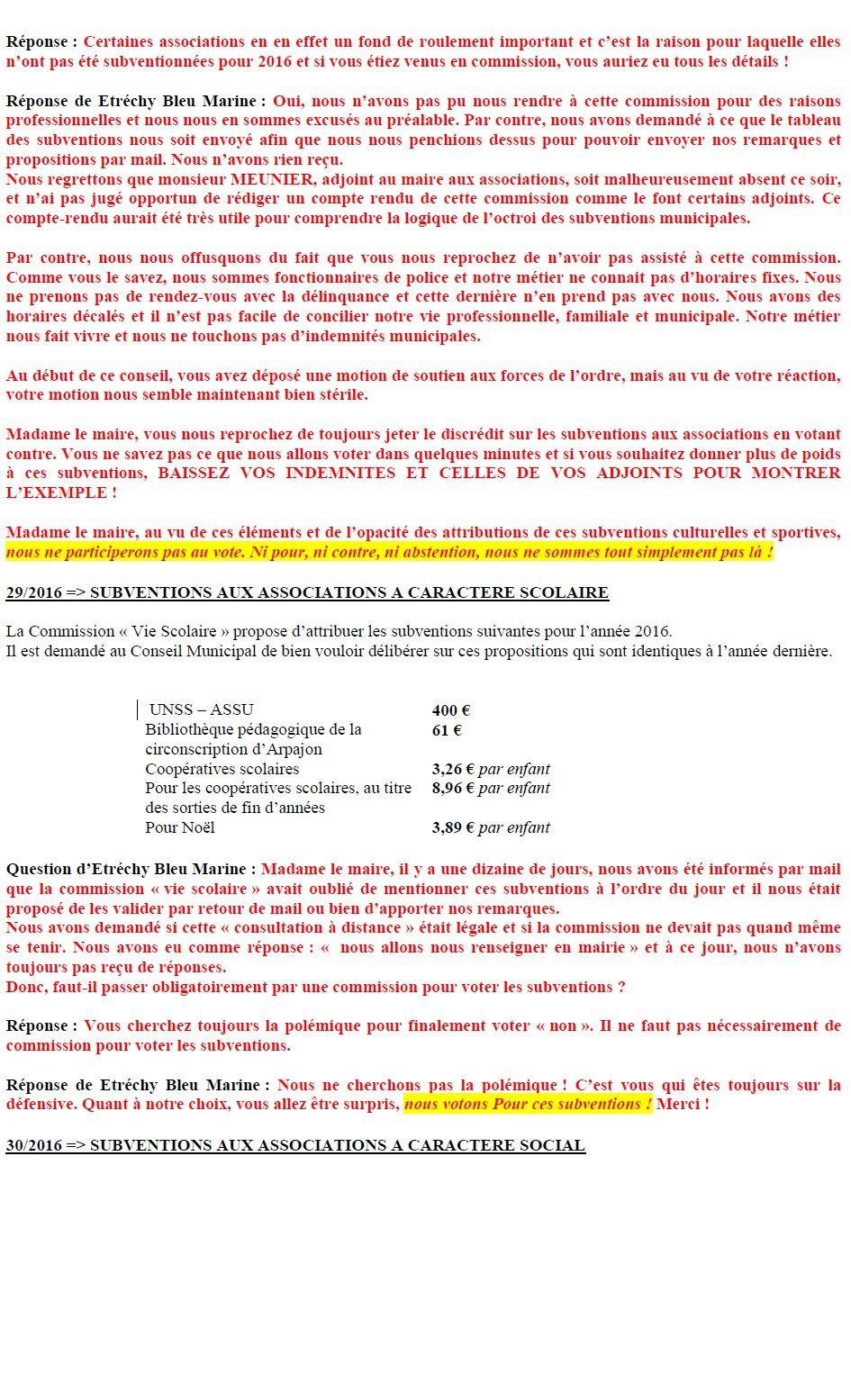 Compte-Rendu du CM du 20 mars 2016