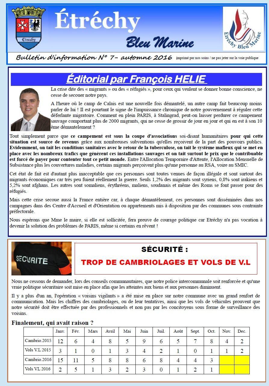 JOURNAL MUNICIPAL ETRECHY BLEU MARINE N°7