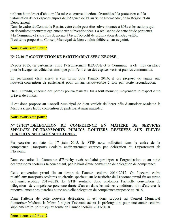 CONSEIL MUNICIPAL DU 3 MARS 2017 : NOTRE COMPTE-RENDU
