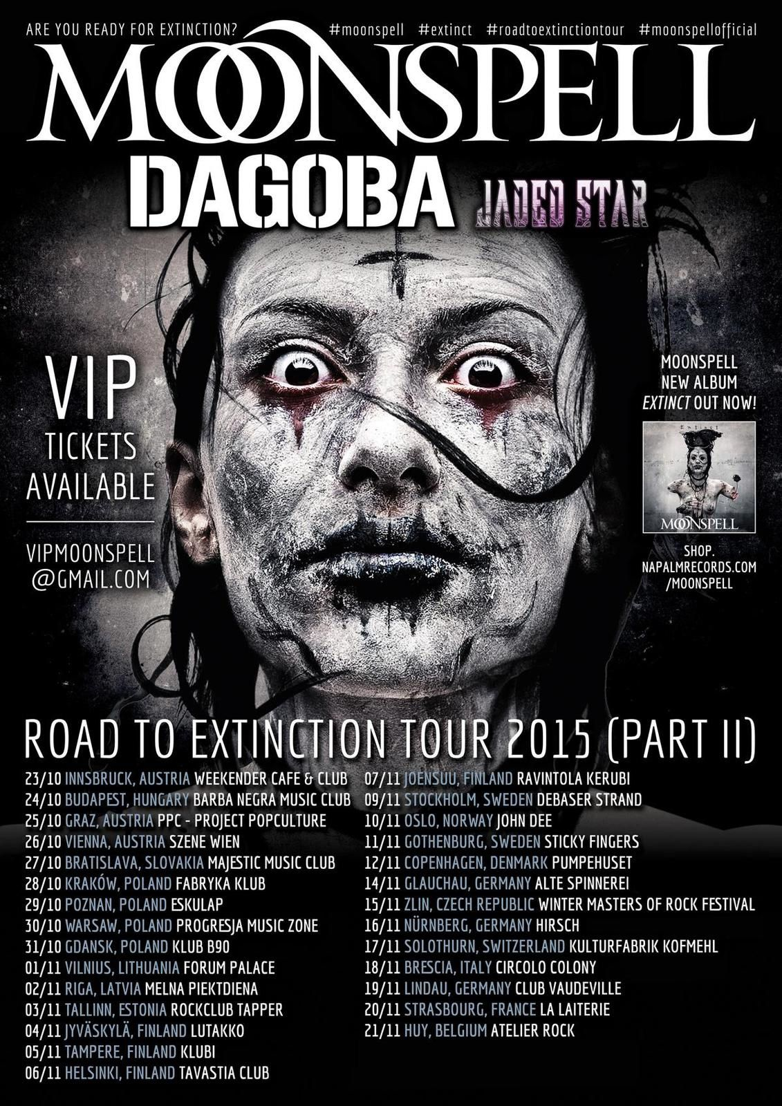 Tour Dates MOONSPELL